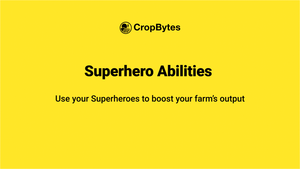 CropBytes - Superhero Abilities and their rules