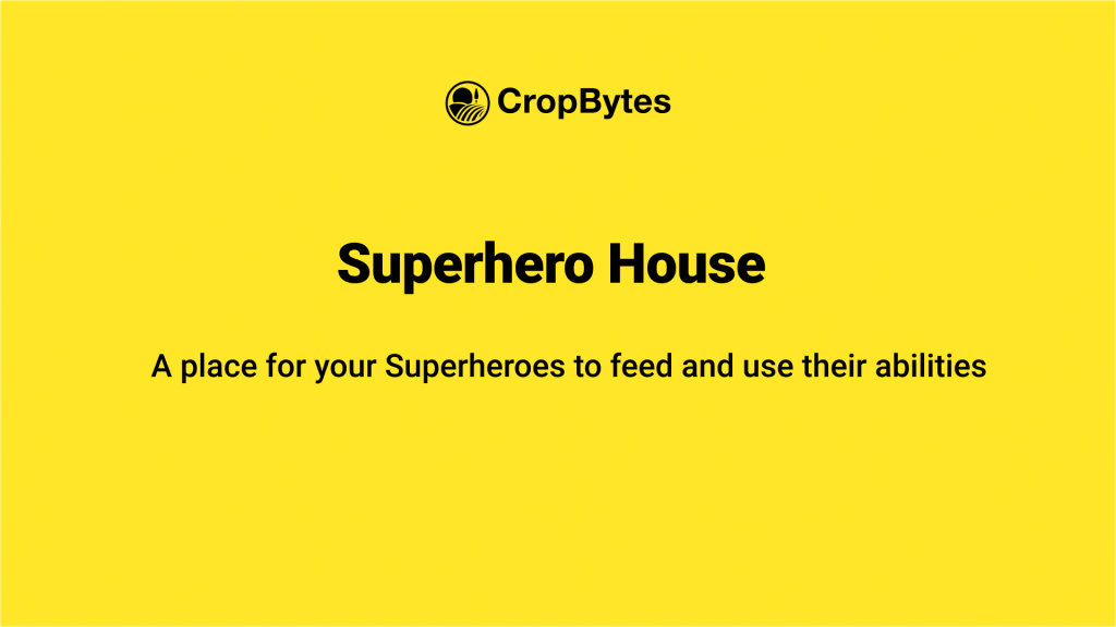 Details about SuperHero houses on CropBytes