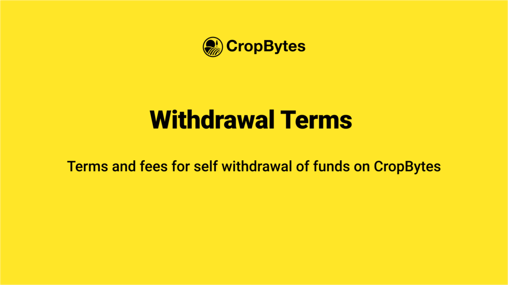 TRX Withdrawals | CropBytes